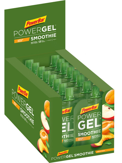 PowerBar PowerGel Smoothie Box 16x90g, Apricot Peach